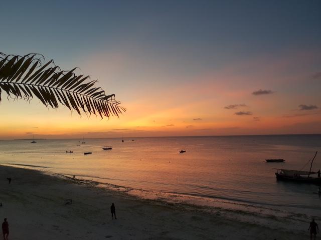 il miglior tramonto di zanzibar, nungwi beach, tanzania, different details,