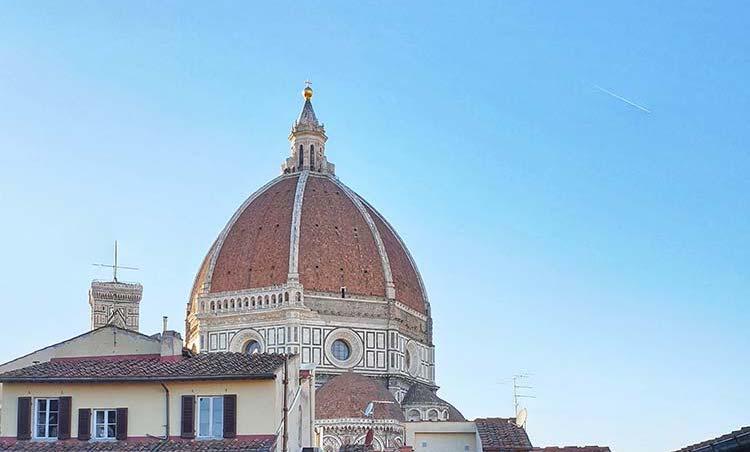 Vista Duomo Firenze Biblioteca delle Oblate