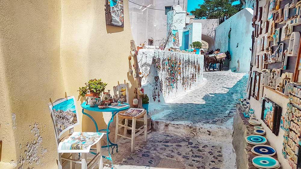 Santorini villaggi Pyrgos Kallistis Artigianato Roberta Arcangeli