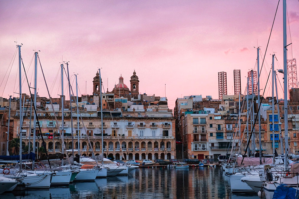 Senglea Malta in autunno Tre Città Different Details