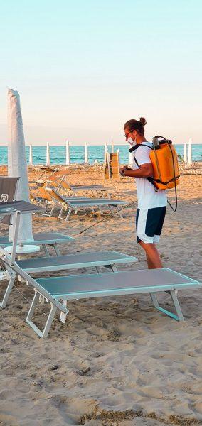 Sanificazione Spiaggia Fase 2 Riccione Roberta Arcangeli