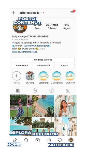 Nuova interfaccia Instagram Roberta Arcangeli
