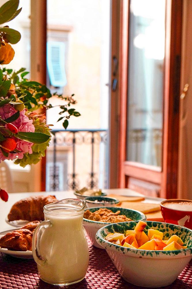 Colazione con vista appartamenti in centro Firenze Different Details